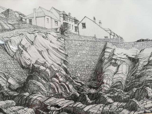 hartland quay by geoffrey sutcliffe